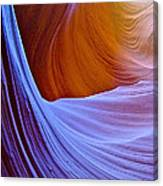 Meeting Of The Curves In Lower Antelope Canyon In Lake Powell Navajo Tribal Park-arizona  Canvas Print