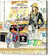 Meghan At The Broken Spoke Saloon Canvas Print