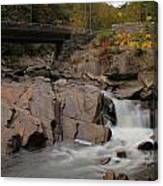 Meigs Falls In Autumn Canvas Print