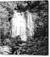 Meigs Falls Smoky Mountains Bw Canvas Print
