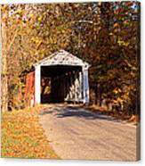 Melcher Covered Bridge Parke Co In Usa Canvas Print