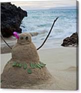 Mele Kalikimaka Merry Christmas From Paako Beach Maui Hawaii Canvas Print