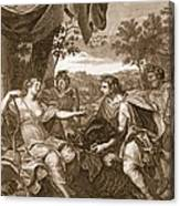 Meleager Presents The Boars Head Canvas Print