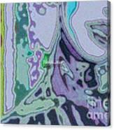 Mellody-blue Canvas Print