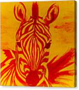 Mellow Yellow Zebra Canvas Print