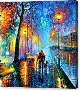 Melody Of The Night - Palette Knife Landscape Oil Painting On Canvas By Leonid Afremov Canvas Print