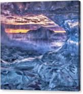 Melting Blue Crystal Canvas Print