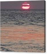 Melting Sun Into The Cool Sea Canvas Print