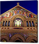 Memorial Church At Night Canvas Print