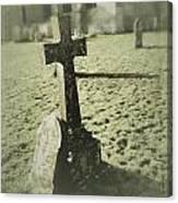 Memorial Cross Canvas Print