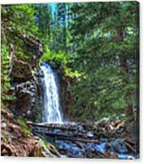 Memorial Falls With Sky Canvas Print