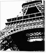 Eiffel Tower Silhouette Canvas Print