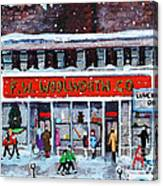 Memories Of Winter At Woolworth's Canvas Print