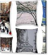 Memories Of Winter - A Collage Canvas Print