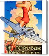 Memphis Belle Poster Canvas Print