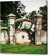 Memphis Elmwood Cemetery - Ayres Family Vault Canvas Print