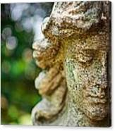 Memphis Elmwood Cemetery - Girl With Cross Close-up Canvas Print