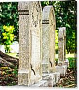 Memphis Elmwood Cemetery Monument - Four In A Row Canvas Print