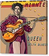 Memphis Minnie Queen Of The Delta Blues Canvas Print