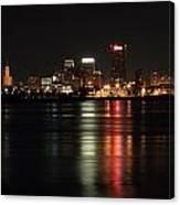 Memphis Tn Skyline At Night Canvas Print