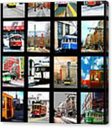 Memphis Trolleys Canvas Print