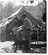 Men At Mining Camp Canvas Print