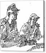 Men At The Bar Canvas Print