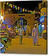 Men In The Spice Market In Aswan-egypt  Canvas Print