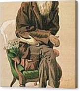 Men Of The Day, No. 33, Charles Darwin, Cartoon From Vanity Fair Canvas Print