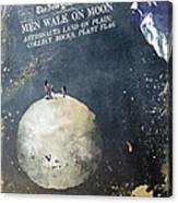 Men Walk On Moon Astronauts Canvas Print
