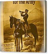 Men Wanted For The Army Poster No Date Ghost Town South Pass City Wyoming 1971 Vignetted Toned 2008 Canvas Print