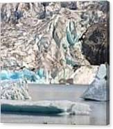 Mendenhall Glacier Detail Juneau Alaska Canvas Print