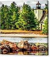 Mendota Bete Grise Lighthouse Canvas Print