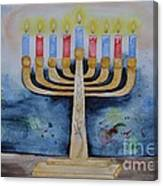 Menorah Canvas Print