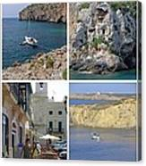 Menorca Collage 02 - Labelled Canvas Print