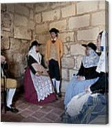 Menorquins Dress And Suit  Back In Time Xviii Century Canvas Print