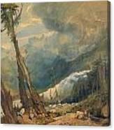 Mer De Glace Canvas Print