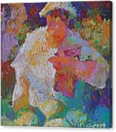 Mercado Lady With Melons Canvas Print
