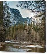 Merced River And Upper Yosemite Falls Canvas Print