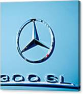 Mercedes 300 Sl Emblem -0190c Canvas Print