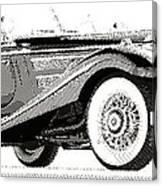 Mercedes 540k  - Parallel Hatching Canvas Print
