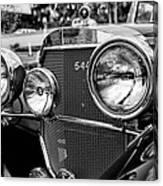 Mercedes 544k Grille - Bw Canvas Print