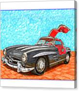 Mercedes  Benz 300 S L Gull Wing Canvas Print