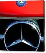 Mercedes-benz 300 Sl Grille Emblem Canvas Print