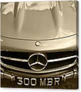 Mercedes Benz 300 Sl Roadster 1957 Canvas Print