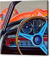Mercedes-benz 300 Sl Steering Wheel Emblem Canvas Print