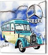 Mercedes Benz D-2600 Bus Canvas Print