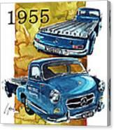 Mercedes Benz Racing Car Transport Canvas Print