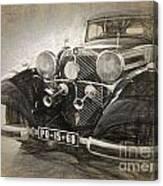 Mercedes Benz Vintage Canvas Print