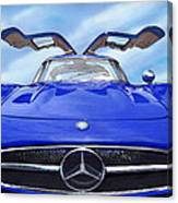 Mercedes Gullwing In Blue Canvas Print